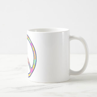 Full Psychedelic Peace Sign Coffee Mug