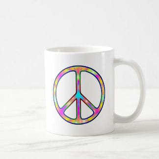 Full Psychedelic Peace Sign Coffee Mugs