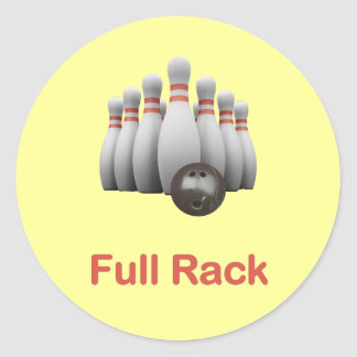 Full Rack Bowling Stickers