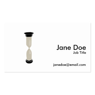 Full Sand Hourglass - Create your own caption! Double-Sided Standard Business Cards (Pack Of 100)