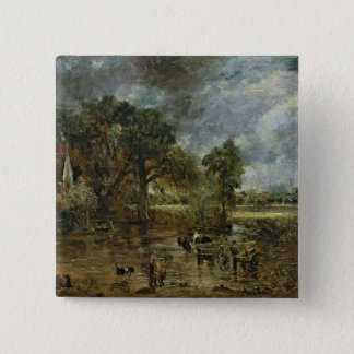 Full scale study for 'The Hay Wain', c.1821 15 Cm Square Badge