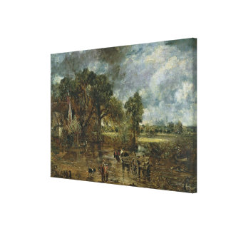 Full scale study for 'The Hay Wain', c.1821 Canvas Print
