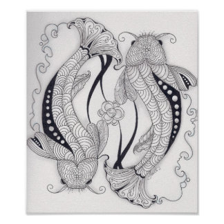 Full Size Koi Fish Poster