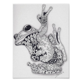 Full Size Tree Frog Poster