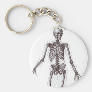Full Skeleton Basic Round Button Key Ring