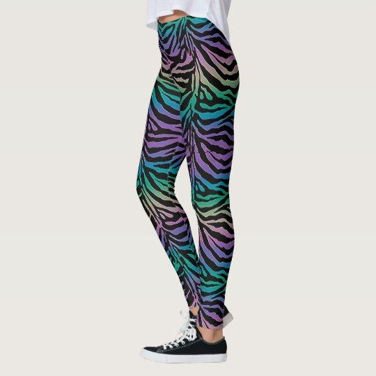 Full Spectrum Rainbow Zebra Animal Print Leggings