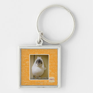 Full Speed Ahead Silver-Colored Square Key Ring