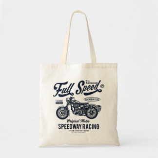 Full Speed Speedway Racing Tote Bag