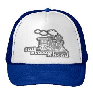 """full steam ahead"" loco train mono hat"