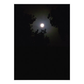 Full Supermoon In The Mist Personalized Announcements