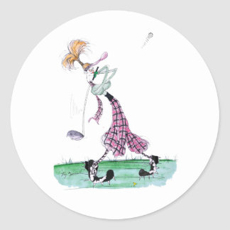 full swing golf, tony fernandes round sticker