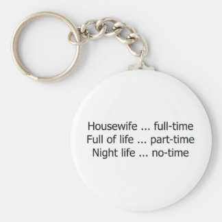 Full-Time Housewife Basic Round Button Key Ring