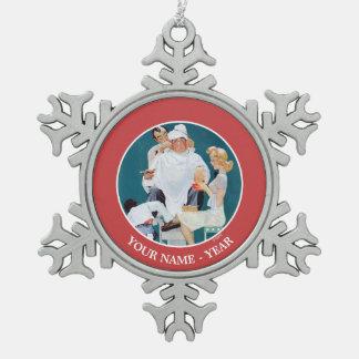 Full Treatment Snowflake Pewter Christmas Ornament