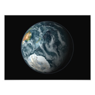 Full view of the Earth highlighting Antarctica Art Photo