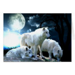 Full Wolf Moon Greeting Cards