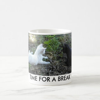 Full Wrap-Around Mug with black and white kittens