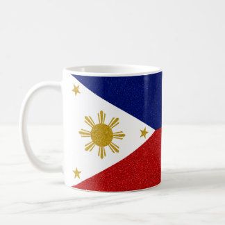 Full-wrap Philippines Glitter Flag Coffee Mug
