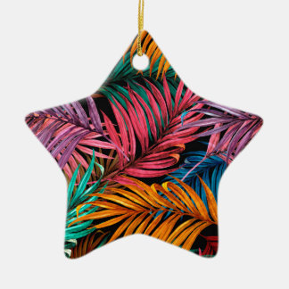 Fullcolor Palm Leaves Christmas Ornament