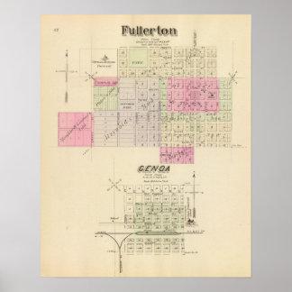 Fullerton and Genoa, Nebraska Poster