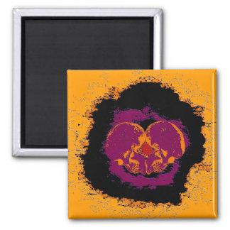fullmoonskull #5 square magnet