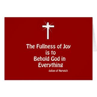 fullness of Joy Greeting Card
