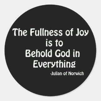 fullness of Joy Round Sticker