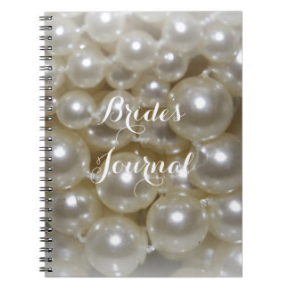Fully Customisable Pearl Background Brides Journal