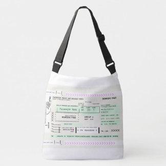Fully Customizable Boarding Pass Crossbody Bag