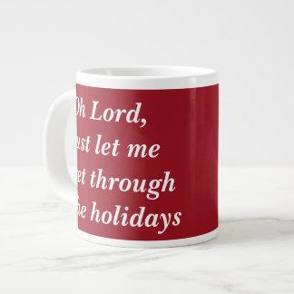 Fully customizable funny holiday mugs jumbo mug