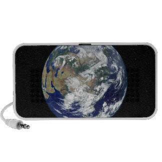 Fully lit Earth centered on Asia Laptop Speaker