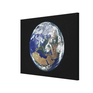 Fully lit Earth centered on Europe Canvas Print
