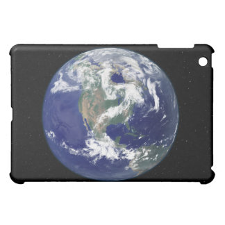 Fully lit Earth centered on North America Case For The iPad Mini