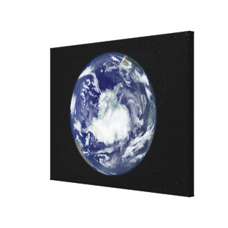 Fully lit full disc image gallery wrapped canvas