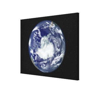 Fully lit full disk image stretched canvas print