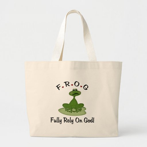 Fully Rely on God Tote Bags