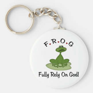 Fully Rely on God Basic Round Button Key Ring