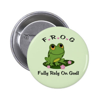 Fully Rely on God Button