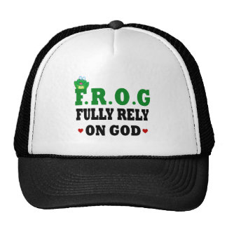 Fully Rely On God Frog Mesh Hats