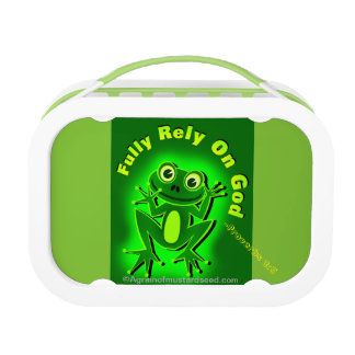 Fully rely on God Frog Lunchbox