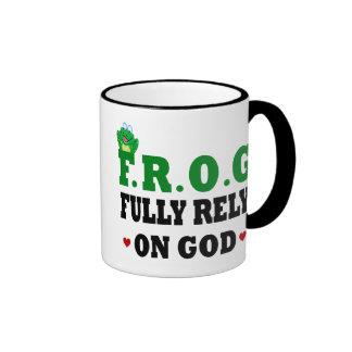 Fully Rely On God Frog Coffee Mug