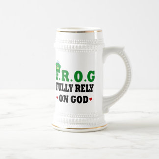 Fully Rely On God Frog Coffee Mugs