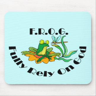 Fully Rely On God Mouse Pad