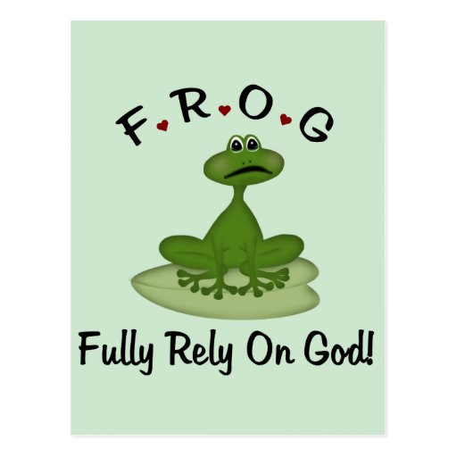 Fully Rely on God Post Card