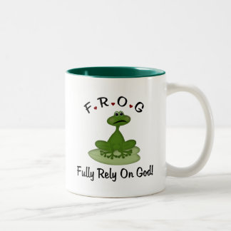 Fully Rely on God Two-Tone Coffee Mug