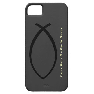 Fully Rely On Gods Grace iPhone 5 Case (Gray)