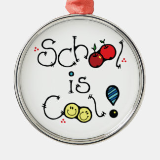 fun002 SCHOOL IS COOL FUN EDUCATION KINDERGARTEN Christmas Ornament