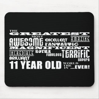 Fun 11th Birthday Party Greatest Eleven Year Old Mouse Pads