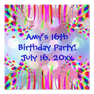 Fun 16th Or Any Age Birthday Party Invitation