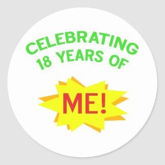 Fun 18th Birthday Gift Idea Classic Round Sticker
