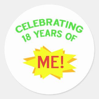 Fun 18th Birthday Gift Idea Round Sticker
